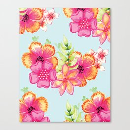 Summer floral pattern V5 #society6 Canvas Print