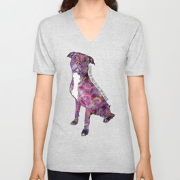 Pit Bulls May Lick You To Death Unisex V-Neck