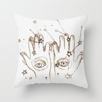 future Throw Pillows featuring Future by Wis Marvin