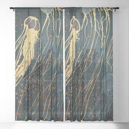 Metallic Jellyfish Sheer Curtain