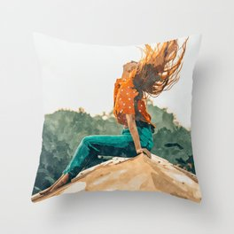 Live Free #painting Throw Pillow