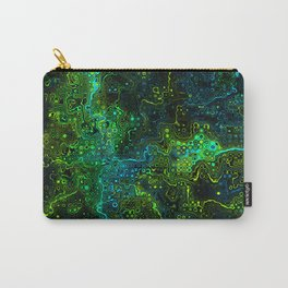 We Are All Connected. Neon Green Abstract Pattern Carry-All Pouch