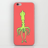 squid iPhone & iPod Skins featuring Squid by idrewthestars