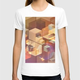 Squares and light leaks pattern T-shirt