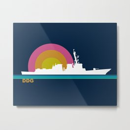 Destroyer Sunset Metal Print
