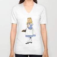 toddler V-neck T-shirts featuring Alice by Tom Tierney Studios