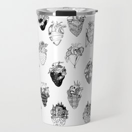 The Anatomy of a Heart Pattern Travel Mug