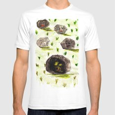 I Stuck in the Stone!!! White MEDIUM Mens Fitted Tee