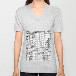 The city Unisex V-Neck