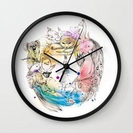 Animals Wreath Wall Clock