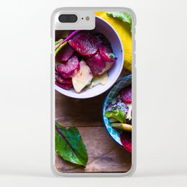 Beetroot and Potato salad Clear iPhone Case