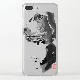 HU DOG Clear iPhone Case
