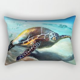 Friendly Sea Turtle by Martha Dodd Rectangular Pillow