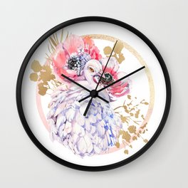 Every Peacock Wants A Lovely Peahen Wall Clock