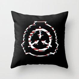 SCP Foundation Symbol Glitch Throw Pillow