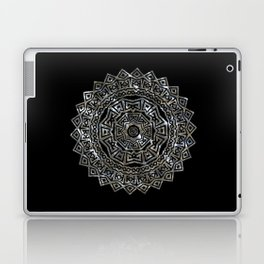 Aztec Mexican Silver Mandala Laptop & iPad Skin