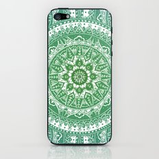 Green Mandala Pattern iPhone & iPod Skin