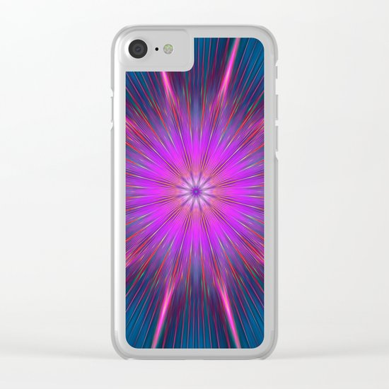 Artistic bright shining abstract star Clear iPhone Case
