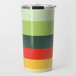 Orange Green Yellow Red Pattern Travel Mug