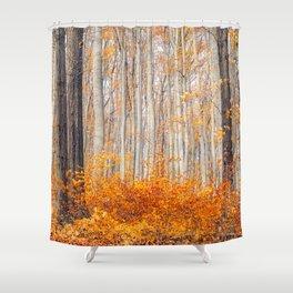 orange autumn Shower Curtain