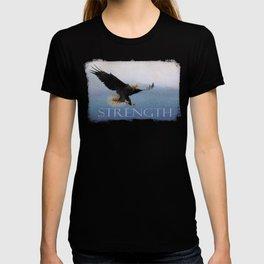 Snowy Flight - Bald Eagle T-shirt