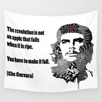 che Wall Tapestries featuring CHE GUEVARA by Rebecca Bear