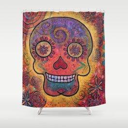 Día de Muertos Shower Curtain