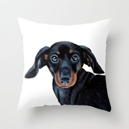 Sausage dog Throw Pillow