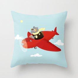 Flying Tapir Throw Pillow