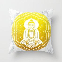 Buda Gautama, Siddharta Gautama, Sakiamuni (yellow) Throw Pillow