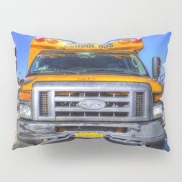 American School Bus Pillow Sham
