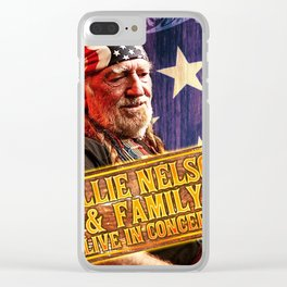 willie nelson family tour 2019 2020 hajarlah Clear iPhone Case