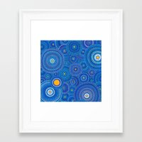starry night Framed Art Prints featuring Starry Starry Night by Elspeth McLean