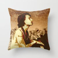 johnny depp Throw Pillows featuring Johnny Depp by victorygarlic - Niki