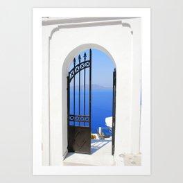 Mediterranean Gate Art Print