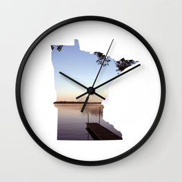 Lake Minnesota Wall Clock