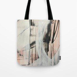 Sweet Tart [2]: a minimal abstract mixed-media piece in pink black and white by Alyssa Hamilton Art Tote Bag