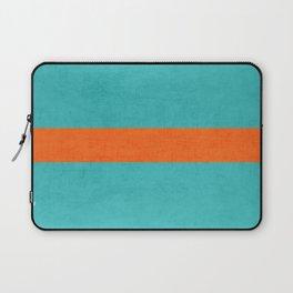 aqua and orange classic Laptop Sleeve