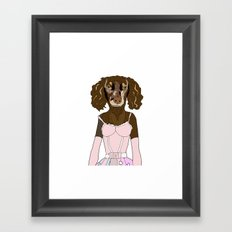 Dachshund in Dress Framed Art Print