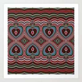 Wavy texture diamond pattern Art Print