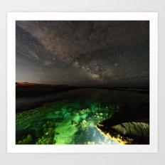 Galactic Lagoon Art Print