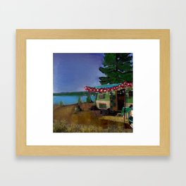 Forest song Framed Art Print
