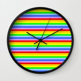 variation on the rainbow 2 Wall Clock