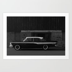 Edsel at the door Art Print
