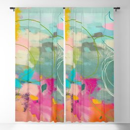 mixed abstract brush color study art 1 Blackout Curtain