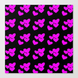 Hearts In The Dark Canvas Print