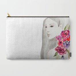 Face&flowers Carry-All Pouch