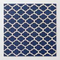 VINTAGE in NAVY Canvas Print
