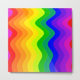 Color Wheel wave Metal Print