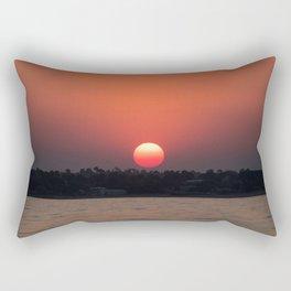 Really red sun Rectangular Pillow